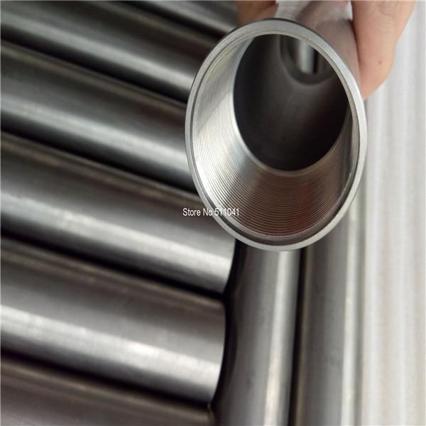 Gr.5 grade 5 titanium thread tube 35mm od*28mm id,250mm long tube,threaded on each end M30*1.5,