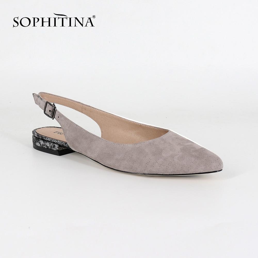 Con De Del Nueva Pie 36 Ocio Sophitina Chico Mujer Dedo Tamaño Sc23 Hebilla 44 Sandalias Correa Khaki Moda Plana Cuero Zapatos 8qqWYz5