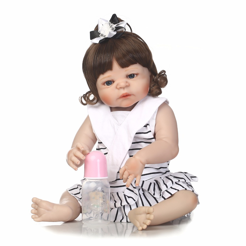New 55cm Full Silicone Reborn Girl Baby Like Real Doll Toys 22inch Newborn Princess Toddler Babies Doll Fashion Birthday GiftNew 55cm Full Silicone Reborn Girl Baby Like Real Doll Toys 22inch Newborn Princess Toddler Babies Doll Fashion Birthday Gift