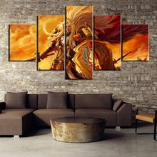 Unique Gift Wall Picture 5 Piece World of Warcraft Painting Canvas Art Home Decoration Living Room
