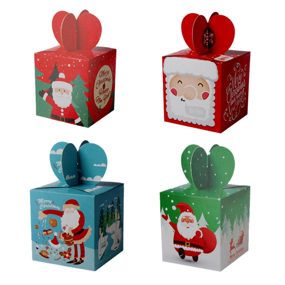 Carrier Box Apple Gift Boxes Paper Christmas Red & Green 16*6*6 cm