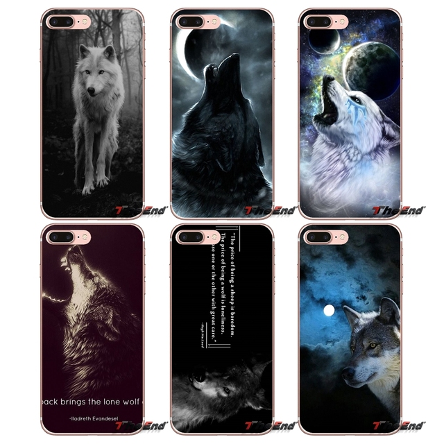 lone wolf wolf wisdom For Sony Xperia Z Z1 Z2 Z3 Z5 compact M2 M4 M5 E3 T3 XA Aqua LG G4 G5 G3 G2 Mini Capa Phone Case Protector