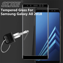 Tempered Glass For Samsung Galaxy A8 2018 A530 A530F A530F/DS Duos Screen protective Full cover black 5.6 inch smartphone смартфон samsung galaxy a8 2018 sm a530f ds blue