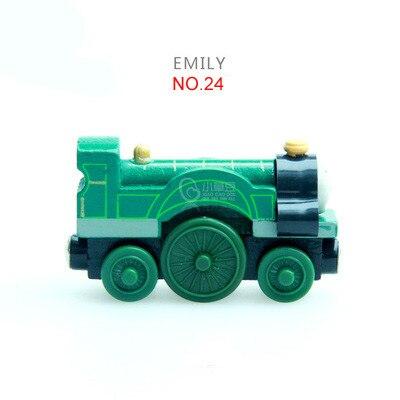 EDWONE деревянный магнитный Поезд Самолет деревянная железная дорога вертолет автомобиль грузовик аксессуары игрушка для детей подходит Дерево Biro треки подарки - Цвет: 24