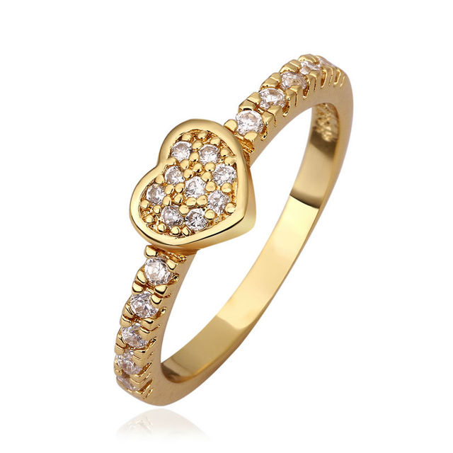 2014 Promise Heart Wedding Ring Set Jewelry Women Bridal Rings Gold Wedding  Band Womens Jewellery Alliance