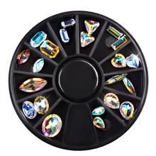 1 Box Symphony Glitter 3D Nail Rhineston Decoration Crystal Charm Design Stone In Wheel DIY Manicure Art Accessories
