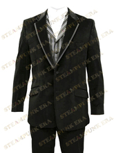 Free Shipping Cool Lapel Full Length Buttons Jazz Cloth Mens Steampunk Coat