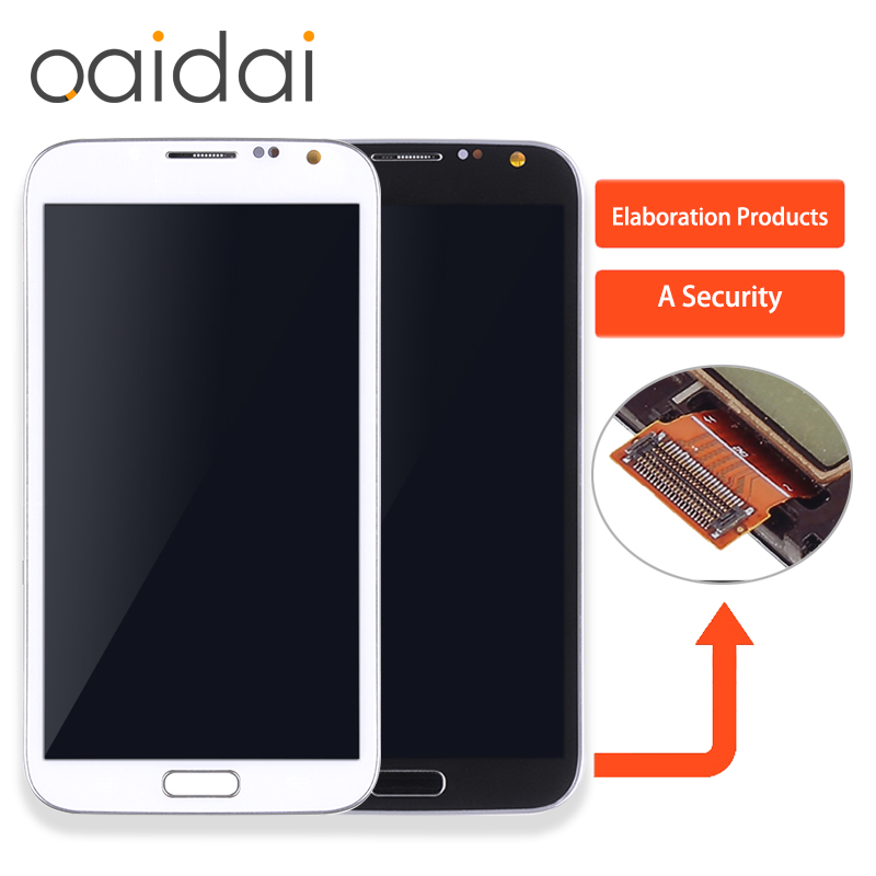 Super AMOLED LCD Display For samsung galaxy Note 2 Note2 II N7100 Touch Screen Mobile Phone Digitizer Assembly Replacement Parts