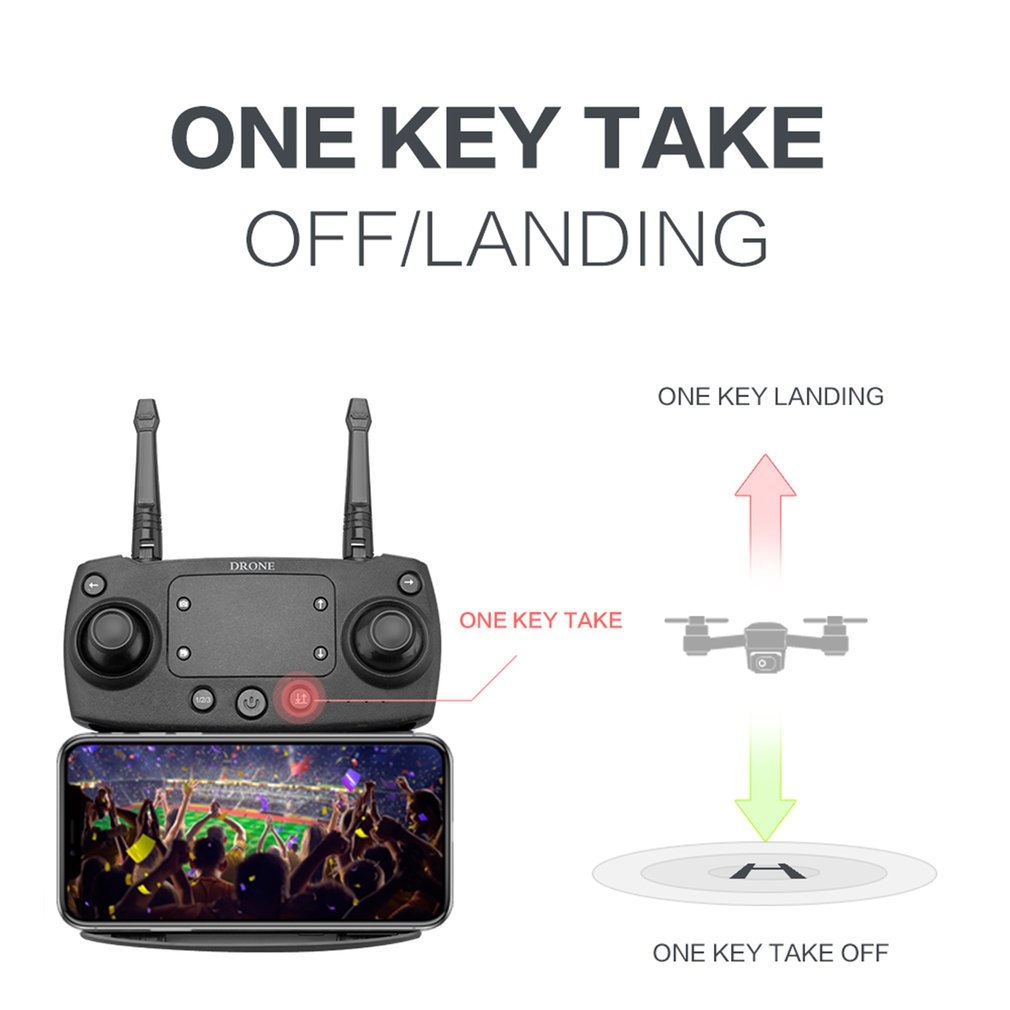 SMRC S20 Foldabe 6 Axles Gyro Mini Wifi RC Drone With Wide Angle 1080P HD Camera SMRC S20 2.4G Altitude Hold RC Quadcopter