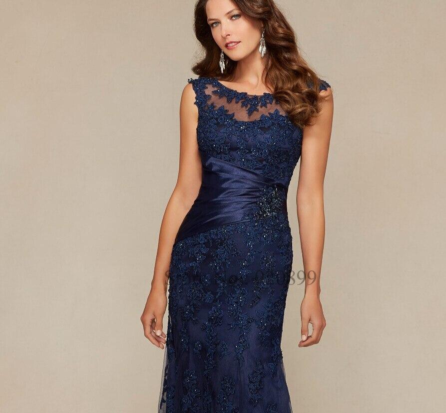 vestidos de madrina de madres novia 2016 navy blue lace madre de la