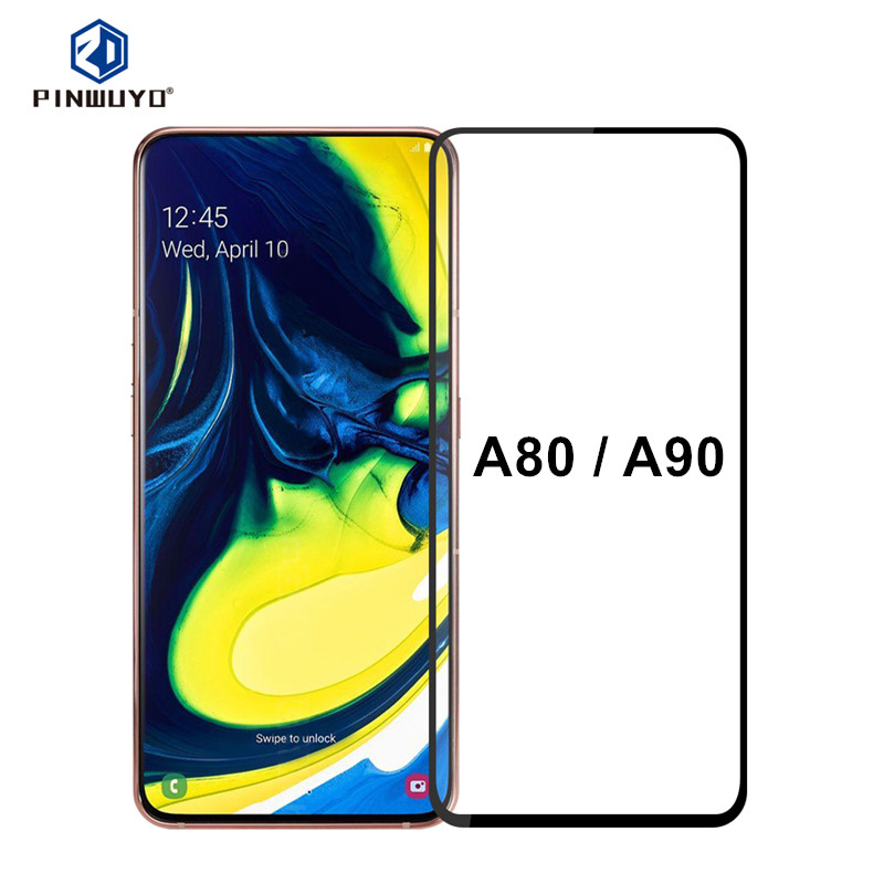 PINWUYO for Samsung Galaxy A80 Glass 6.7 inch Full Cover Film for...