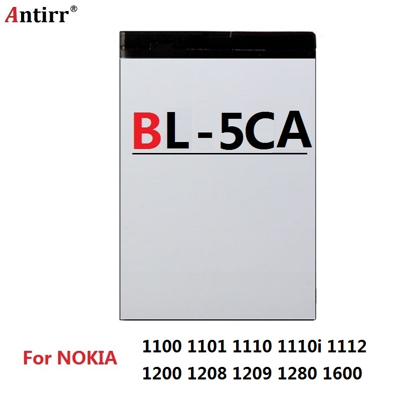 BL-5CA Replacement Battery For <font><b>Nokia</b></font> 1100 1101 1110 1110i 1112 1200 <font><b>1208</b></font> 1209 1280 1600 Mobile Phone Batteries image