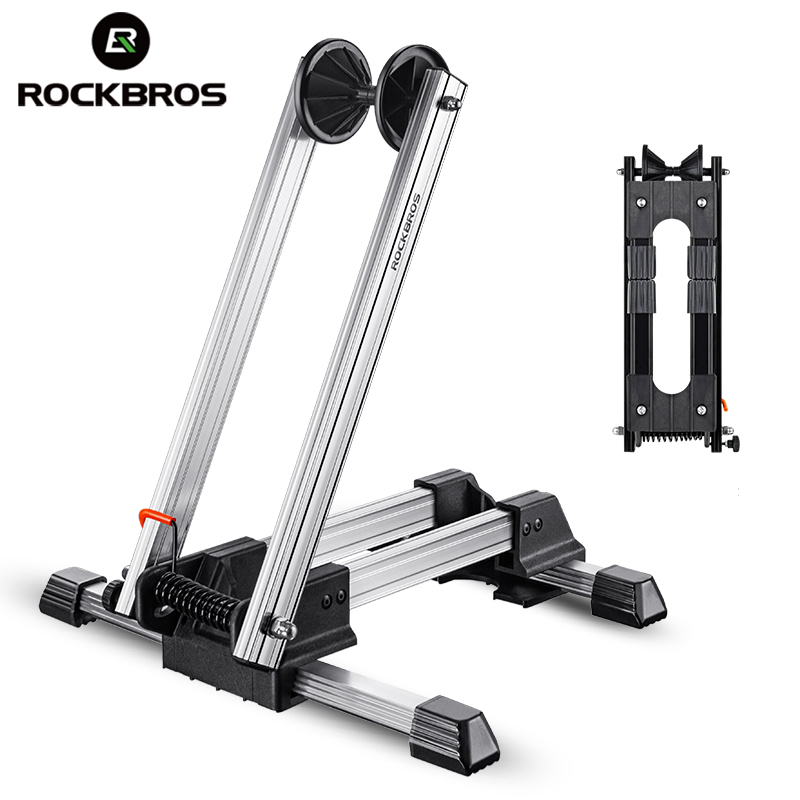 ROCKBROS Bicycle Racks Aluminum Bike Repair Stand Mountain Bicycle Racks Portable Display Stand L-Type Parking Folding Stand мужские колье cai колье из серебра и кожи c4078n 90 00 60