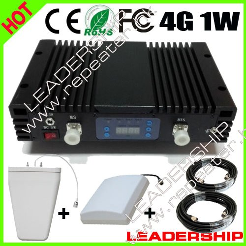 LTE RF 4G 2600mhz 1W AGC LCD Cellular Mobile/cell Phone Signal Repeater Booster Amplifier Detector Splitters With Antenas
