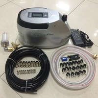 S082 High pressure misting fogging system with timer controller LED display water pump for patio garden greenhouse waterpark