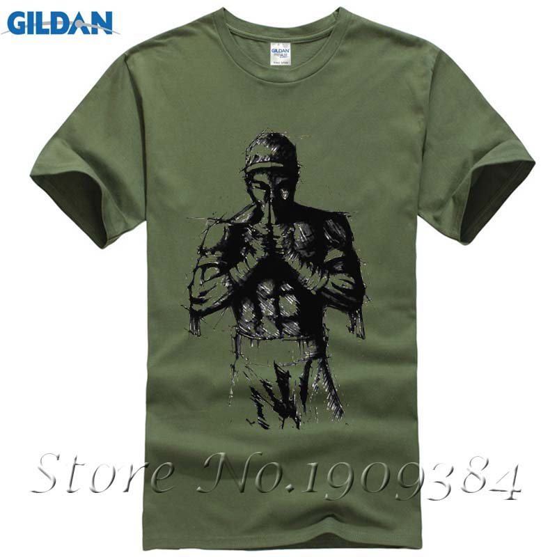 """muay Thai Kick Protector T-shirt Top Baumwolle Männer T Shirt Neue Design Hohe Qualität Digital Inkjet Druck"""