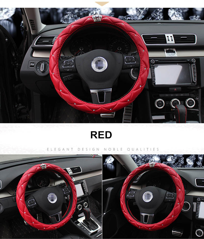 leather steering wheel cover 11