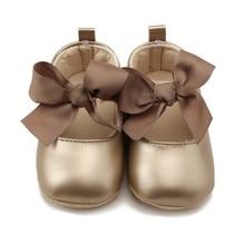 Toddler Baby Girl Soft PU Shoes Bow Bandage Infant Princess