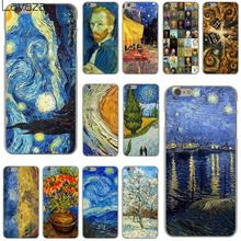 Van Gogh Tardis Hard Clear Skin Cover Case for iPhone 6 6S Plastic Back