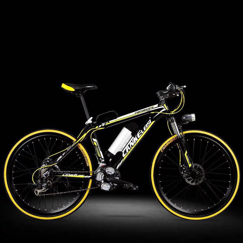 LANKELEISI bicicleta elétrica 26 polegada 36/48 V de lítio bicicleta elétrica Da Liga de Alumínio adulto mountain bike