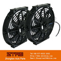 "Twin SLIM 10"" Pull/Push Racing Radiator Engine Bay Cooling Fan fit for all vehicle"