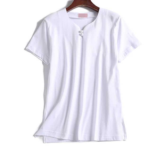 ユニセックス夏の綿半袖武術武道のスーツ太極拳太極拳 tシャツカンフーシャツ制服グレー/ホワイト