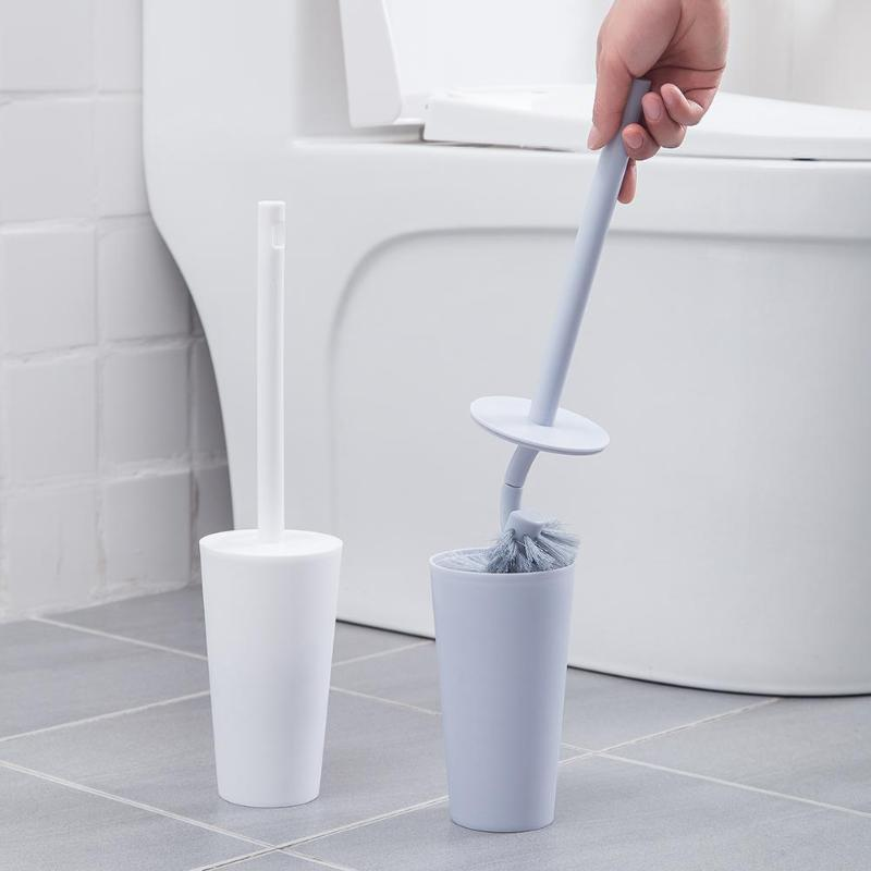 Long Handle Toilet Brush Holder Set Bathroom Lavatory Cleaning Tool Floor-Standing WC Toilet Cleaning Brush Bathroom Accessories