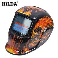 HILDA Güneş Otomatik Kararan MIG MMA Elektrik Kaynak Maskesi/Kask/Kaynakçı Kap/Kaynak Makinesi Için Kaynak Objektif kasklar