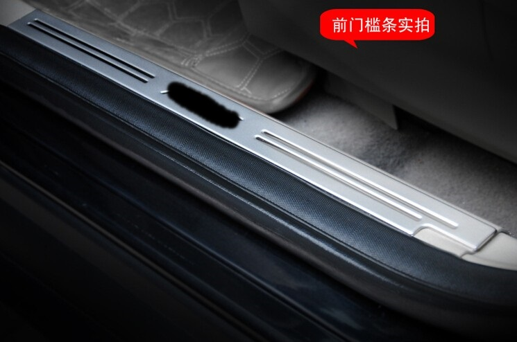 For Focus 2 3 Hatchback and sedan 2012 2013 2014 Stainless steel Welcome pedal Scuff Plate