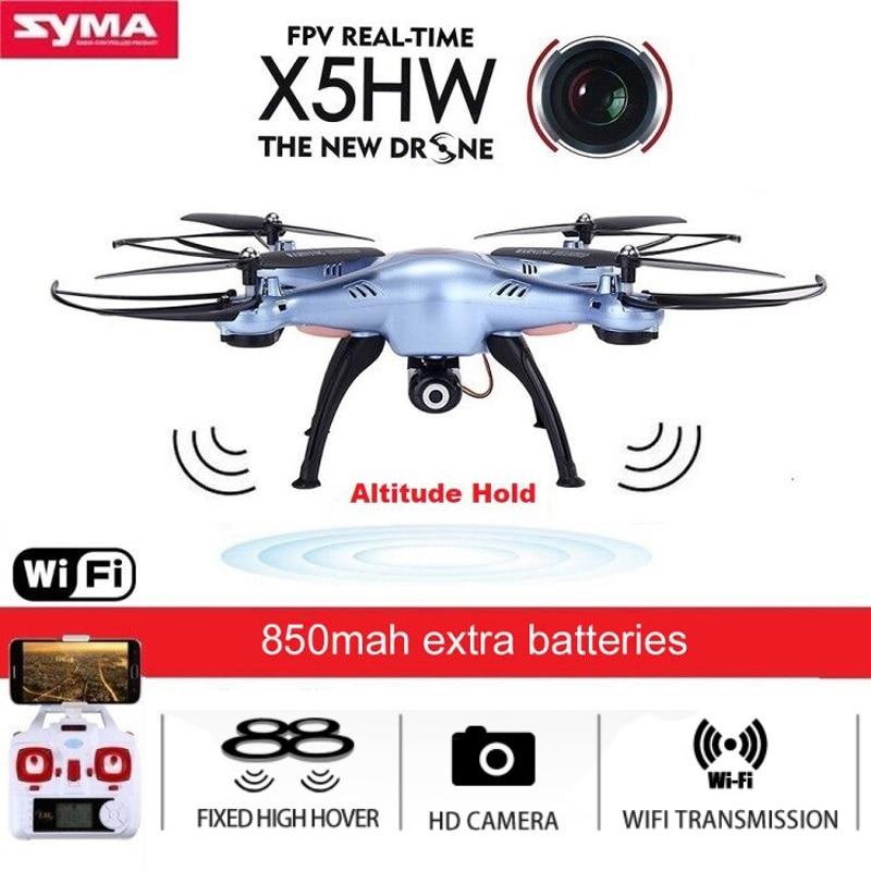 SYMA X5HW Quadrocopter Drone avec Caméra Wifi FPV HD en temps Réel 2.4G 4CH hélicoptère RC quadrirotor RC Dron Jouet (X5SW Mise À Niveau)