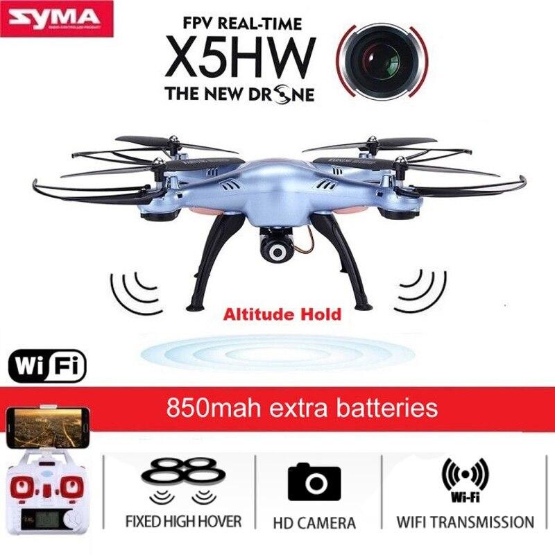 SYMA X5HW Quadrocopter Drone avec Caméra Wifi FPV HD en temps Réel 2.4g 4CH RC Hélicoptère Quadcopter RC Dron jouet (X5SW Mise À Niveau)