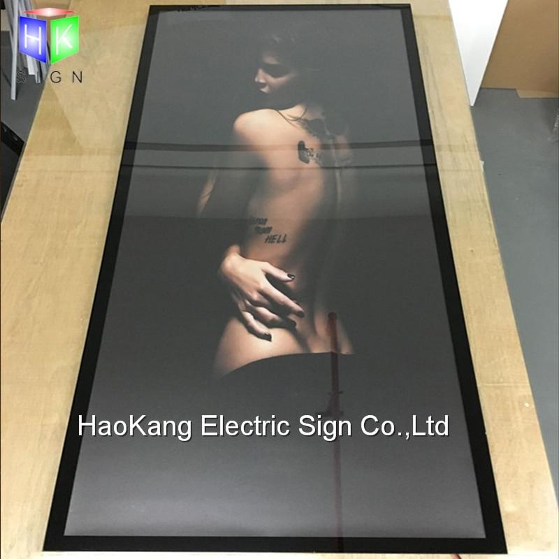 24x36 pulgadas LED retroiluminada de aluminio caja ligera del marco ...