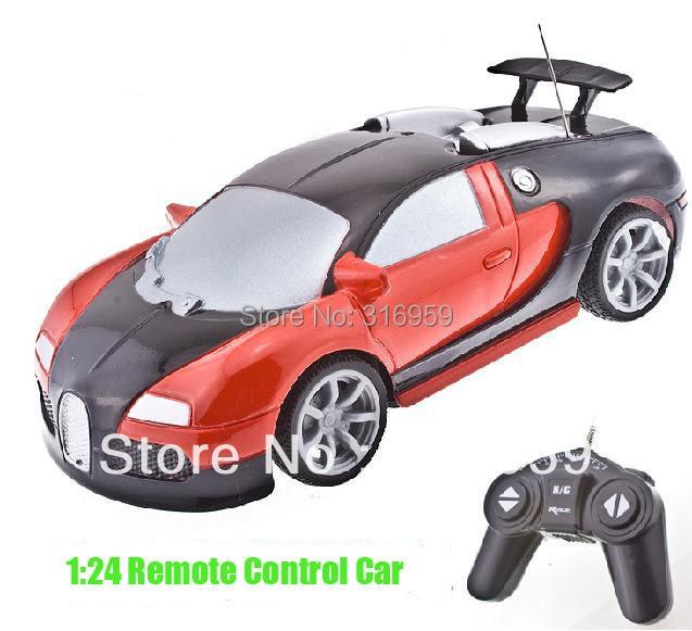 Rc Car 1:24 Bugatti Veyron Car Super alta de carreras de coches de Control remot