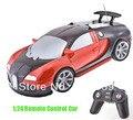 Rc Car 1:24 Bugatti Veyron Car Super alta de carreras de coches de Control remoto electrónico modelo de coche los vehículos juguetes y pasatiempos