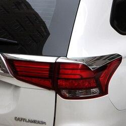 Dla Mitsubishi Outlander 2016 2017 2018 ABS Chrome tylne światło Streamer wykończenia tylne lampy światła Bezel pokrywa kaptur Auto części