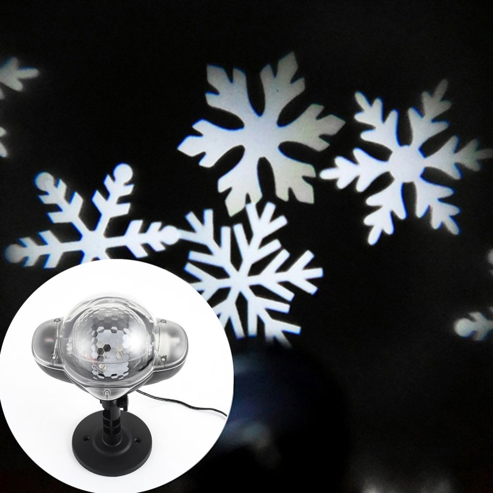 Snowfall LED Light Outdoor Snowflake LED Stage Snow Lights Waterproof Light Christmas Holiday White & RGB Color Lighting party