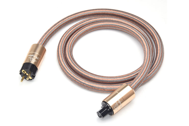 Hifi Power Cable High Purity 5N OFC Power Cord European EU Standard Plug
