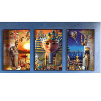 DIY Diamond Embroidery Egypt Triptych Scenic Diamond Painting Triptych Cross Stitch Diamond Mosaic Embroidery Home Decor
