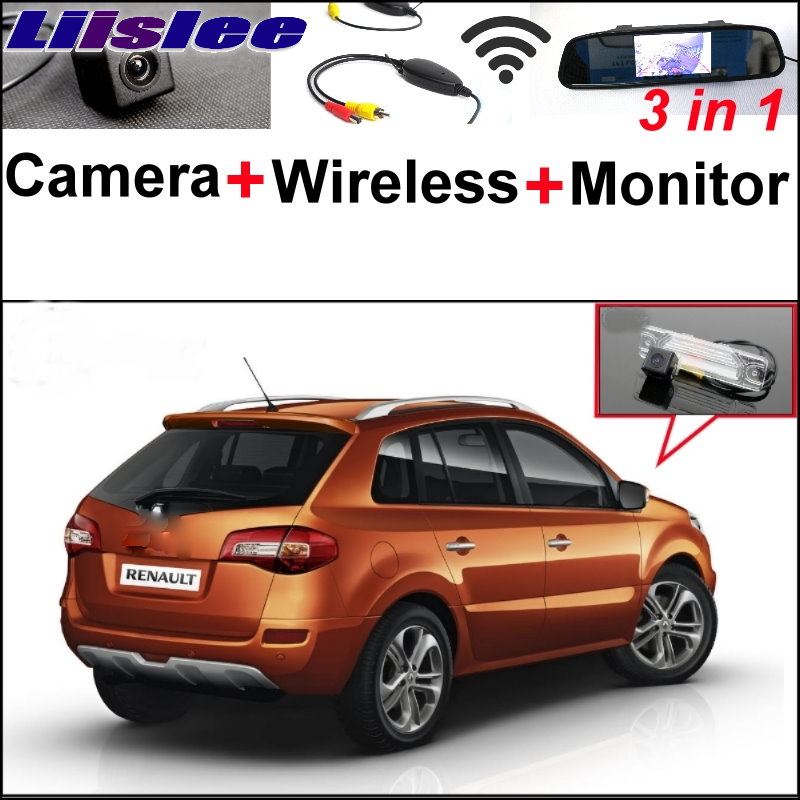 Liislee For Renault Koleos 3 in1 Special Reversing Camera + Wireless Receiver + Mirror Monitor Easy DIY Back Up Parking System liislee for renault samsung qm5 3 in1 special rear view camera wireless receiver mirror monitor easy back parking system