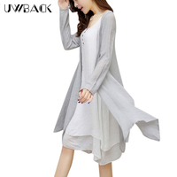 2016 New Autumn Linen Maxi Dress Chinese Vintage Dress Women Long Sleeve Plus Size Elegant Ladies