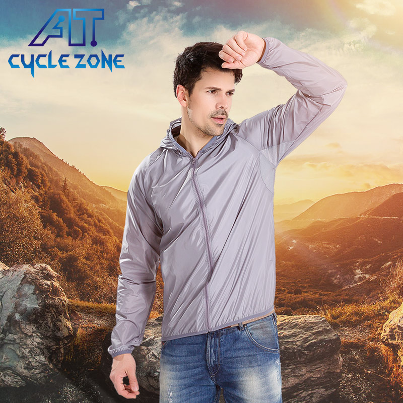 Cycle Zone Breathable Bike Bicycle Cycling Long Sleeve Anti-UV Wind Coat Windproof Quick Dry Men Women Riding Bike Jacket