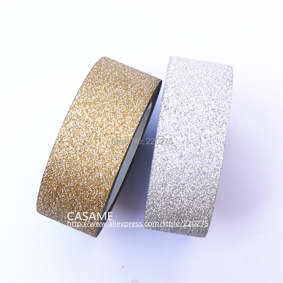 How to scrapbook with glitter - 5m Korean Style Totaly Gold Glitter Tape Paper Scrapbooking Book Decor Self Adhesive Stick Washi Golden