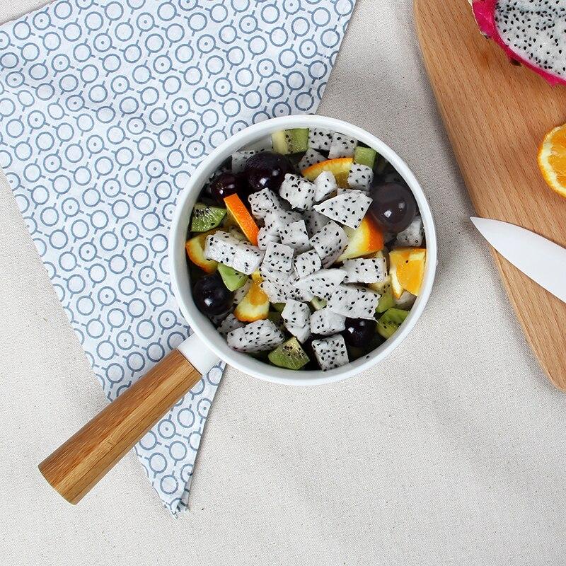 Bol à salade bol de fruits créatifs d'europe occidentale bol à salade dessert nourriture de style occidental vaisselle en céramique de bambou avec main