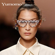 YUMOMO Vintage Sunglasses Women Brand Desinger Luxury Cat Eye Glasses Red Leopard Small Shades Female Oculos de sol UV400