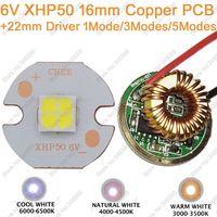 Cree XHP50 Cool White Neutral White Warm White High Power LED Emitter 6V 16mm Copper PCB