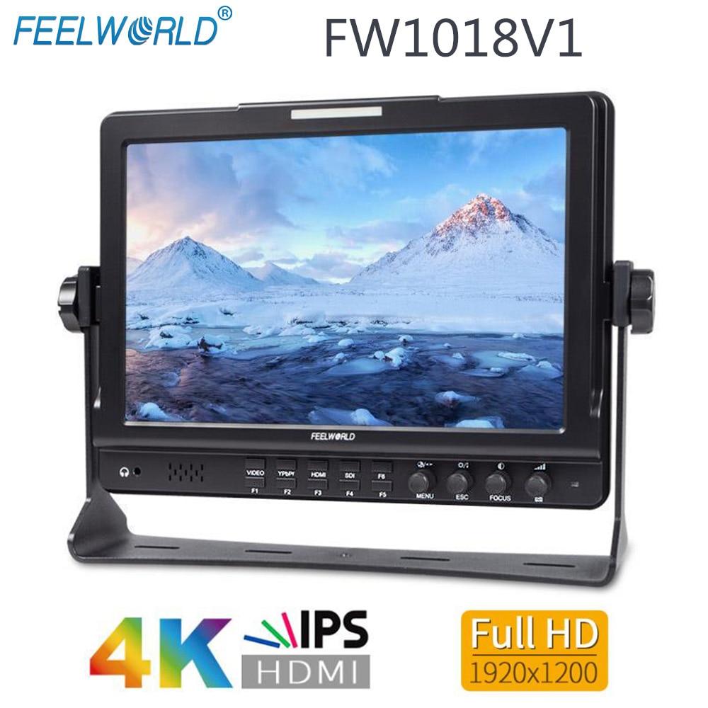 Feelworld FW1018V1 10 1 IPS 4K HDMI Camera Field Monitor Full HD 1920x1200 LCD Monitor for