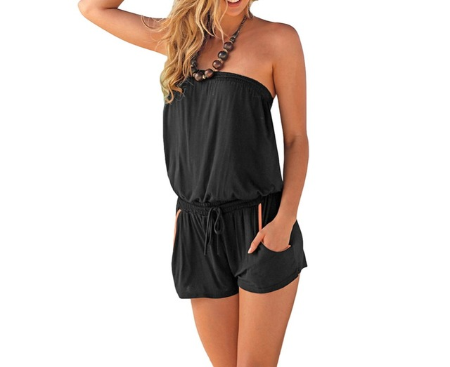 FGirl Playsuit Overalls Summer Fashion Strapless Romper Women Sexy Playsuits Body Romper FG41697