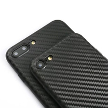 Case для iphone 7 plus Силиконовая Резина Углеродного Волокна Ультра тонкий тонкий Назад Мягкая Обложка для iphone 6 6 S plus для iphone7 защитные