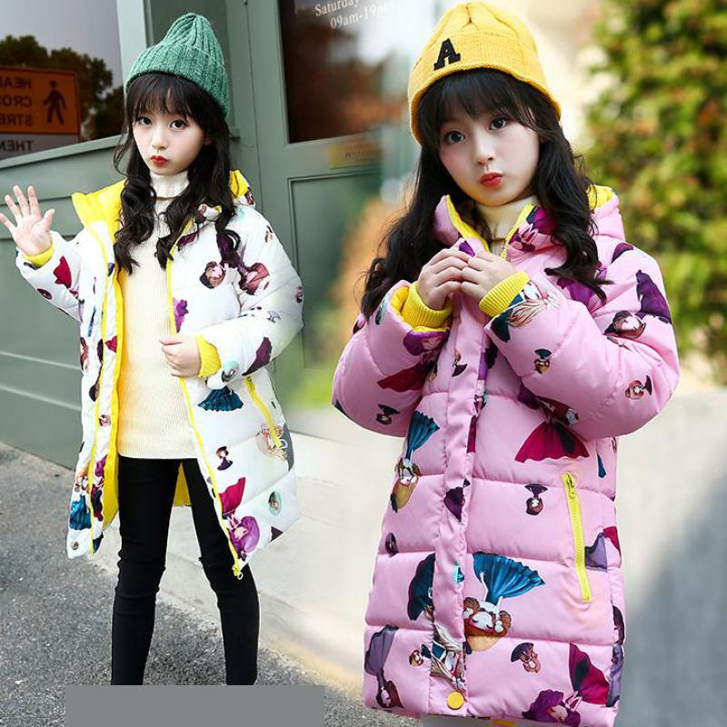 New 2018 Fashion Children Winter Jackets Girls Winter Coat Kids Warm Hooded Long Down Coats For Teenage Girls Casaco Infantil 12 new 2018 fashion children winter jackets girls winter coat kids warm hooded long down coats for teenage girls casaco infantil 12