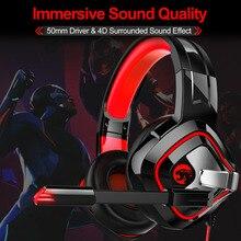 JOINRUN A66 PS4 משחקי אוזניות קסדה Wired 4D סטריאו אוזניות אוזניות עם מיקרופון עבור חדש Xbox אחד/מחשב נייד Tablet גיימר